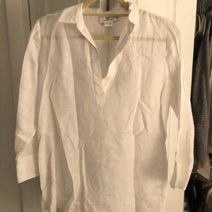 White linen dress shirt